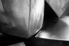Particelle elementari dei cubi del metallo Fotografia Stock