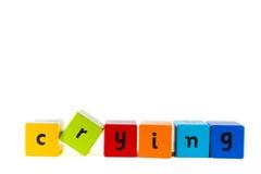 Particelle elementari del bambino che ortografano ?gridare? Fotografia Stock