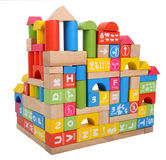 Particelle elementari del bambino s che costruiscono una casa Fotografia Stock Libera da Diritti