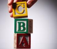 Particelle elementari di alfabeto Fotografia Stock