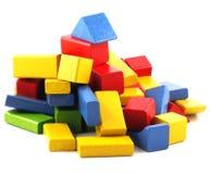 Particelle elementari di legno Immagine Stock