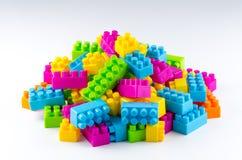 Particelle elementari di plastica Fotografia Stock Libera da Diritti