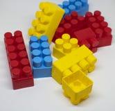 Particelle elementari di plastica dei giocattoli fotografia stock