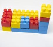 Particelle elementari di plastica dei giocattoli immagine stock libera da diritti