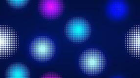 Particelle leggere al neon, progettazione senza cuciture del modello immagine stock