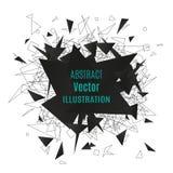 Particelle poligonali astratte Immagine Stock Libera da Diritti