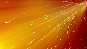 Particelle precipitanti con la traccia scintillante in Cyberspace Fotografie Stock Libere da Diritti