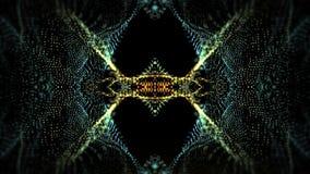 Particelle psichedeliche del caleidoscopio illustrazione di stock