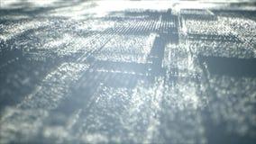 Particelle spaziali cyber di Digital immagine stock
