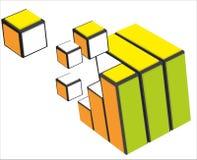 Particelle variopinte del cubo Immagini Stock