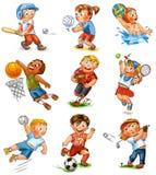 Participación del niño en deportes Imagen de archivo libre de regalías