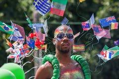 Participant at annual Gay Pride parade in Tel Aviv. royalty free stock photos
