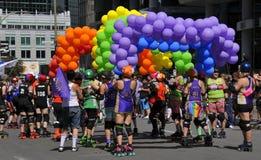 Participant au jour de la Communauté pour la fierté de Montréal Images stock