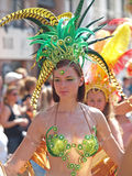 Participant at carnival parade copenhagen in may 2013 Royalty Free Stock Photo