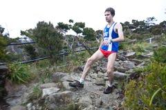 Participant climbing up Mt Kinabalu Stock Images