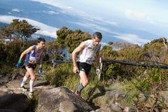Participant climbing up Mt Kinabalu Royalty Free Stock Photos