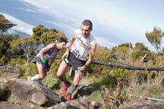 Participant climbing up Mt Kinabalu Stock Image