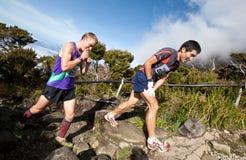 Participant climbing up Mt Kinabalu Royalty Free Stock Image