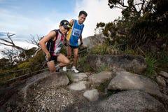 Participant climbing up Mt Kinabalu Royalty Free Stock Images