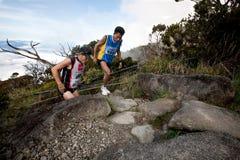Participant climbing up Mt Kinabalu Royalty Free Stock Photo