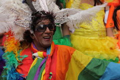 Participant coloré des gays et lesbiennes Pride Parade Photographie stock