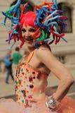 Participant coloré des gays et lesbiennes Pride Parade Images libres de droits