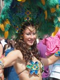 Participant at copenhagen carnival 2012 Royalty Free Stock Photo