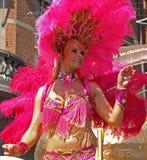Participant de carnaval de samba Images stock