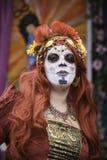 Participant during dia de Muertos Stock Photography