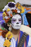 Participant during dia de Muertos. Participant in dia de Muertos, Hollywood Forever Cemetery Stock Images
