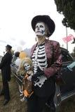 Participant during dia de Muertos Royalty Free Stock Images