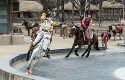 Participant a the Equestrian Feats act, South Korea Royalty Free Stock Photo