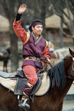Participant a the Equestrian Feats act, South Korea Stock Photos