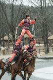 Participant a the Equestrian Feats act, South Korea Royalty Free Stock Photography