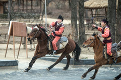 Participant a the Equestrian Feats act, South Korea Royalty Free Stock Images