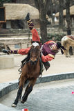 Participant a the Equestrian Feats act, South Korea Stock Photography