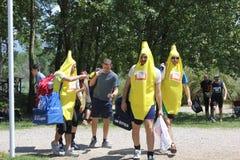 Participant at Inferno Run 2015 near Florence Royalty Free Stock Photos