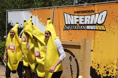 Participant at Inferno Run 2015 near Florence Royalty Free Stock Photography