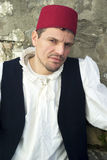 Participant of medieval costume party Royalty Free Stock Photos