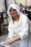 Participant of medieval costume party Stock Image