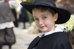 Participant of medieval costume party Stock Photography