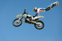 The participant of the motocross competition. Stock Photos