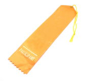 Participant Ribbon. Orange Participant Ribbon photographed on a white background Stock Images