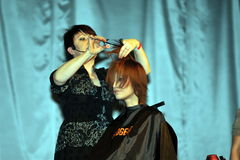 Participant(s) of the Beauty Hair & Spa Exhibition organized by Health and Beauty Business Media kft. Stock Photography