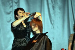 Participant(s) of the Beauty Hair & Spa Exhibition organized by Health and Beauty Business Media kft. Stock Image