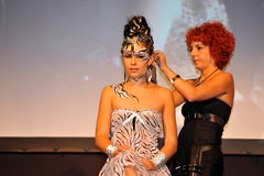 Participant(s) of the Beauty Hair & Spa Exhibition organized by Health and Beauty Business Media kft. Stock Photos