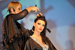 Participant(s) of the Beauty Hair & Spa Exhibition organized by Health and Beauty Business Media kft. Stock Images
