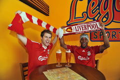 Participant(s) of the Debrecen - Liverpool football match at Novembrer 24, 2009 in Budapest, Hungary. Stock Photography