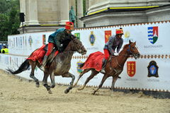 Participant(s) of the hungarian national galopp race at June 1, 2009 in Budapest, Hungary. Royalty Free Stock Image