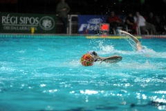 Participant(s) of the hungarian water polo national championship,Ujpest against Ferencvaros match at February 14, 2009 in Budapest Stock Photo